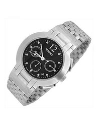 Versace Madison Men's Stainless Steel Black Dial Chronograph