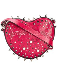 Red Valentino Studded Heart Crossbody Bag Red