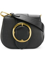 Polo Ralph Lauren Buckle Saddle Bag Black