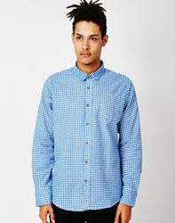 The Idle Man Long Sleeve Shirt With Check Print White