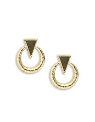 House Of Harlow Doorknocker Statement Earring Gold