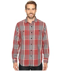 Tommy Bahama Parana Plaid Long Sleeve Woven Shirt Cherry Tomato Men's Long Sleeve Button Up Orange