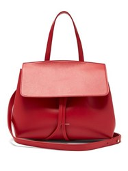 Mansur Gavriel Mini Lady Leather Cross Body Bag Red
