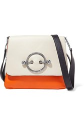 J.W.Anderson Jw Anderson Disc Color Block Leather Shoulder Bag Ivory