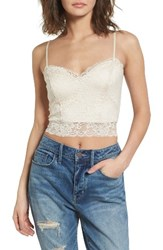 Treasure And Bond Women's Lace Crop Camisole