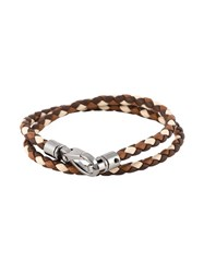 Tod's Braided Double Wrap Bracelet Brown