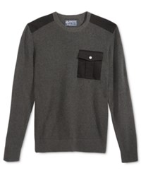 American Rag Men's Uniformity Sweater Only At Macy's Charcoal Heather