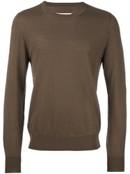 Maison Martin Margiela Classic Crew Neck Sweater Brown