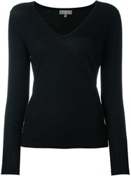 N.Peal Superfine V Neck Sweater Black