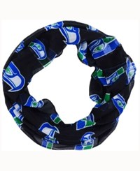 Forever Collectibles Seattle Seahawks All Over Logo Infinity Wrap Scarf Black Blue