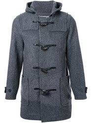 Anrealage 'Noise Panel' Duffle Coat Grey