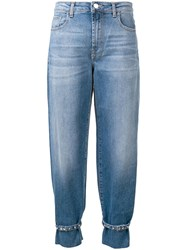 Pinko Ankle Strap Tapered Jeans Blue