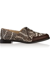 Maiyet Leather Trimmed Elaphe Brogues