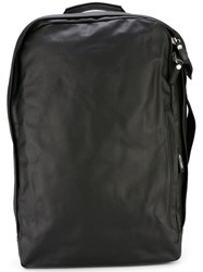 Qwstion Side Zip Backpack Black