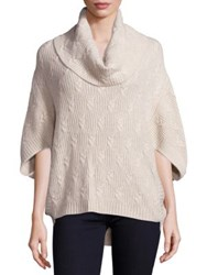 Design History Missy Cashmere Cocoon Fisherman Sweater Almond Heather