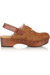 Gucci Amstel Goat Hair Clogs