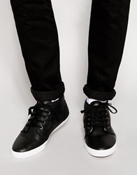 Fred Perry Fletcher Shearling Look Chukka Boots Black