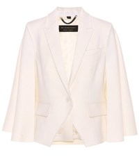 Burberry Wool Cape Jacket White