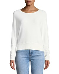 Cupcakes And Cashmere Charles Crewneck Long Sleeve Knit Top Ivory