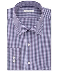 Van Heusen Men's Classic Fit Wrinkle Free Purple Checked Dress Shirt