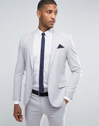 Only And Sons Skinny Suit Jacket Gray