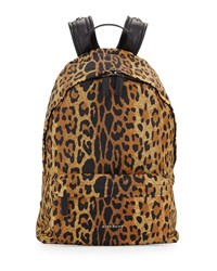 Antigona Nylon Backpack Leopard Print Givenchy