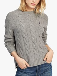 Ralph Lauren Polo Cable Knit Jumper Fawn Grey Heather