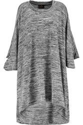 Vivienne Westwood Fey Oversized Slub Cotton Blend Tunic Top Gray