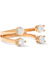Delfina Delettrez 18 Karat Rose Gold Diamond Phalanx Ring