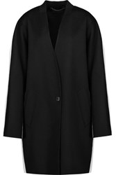 Rag And Bone Rockley Two Tone Brushed Wool Coat Black