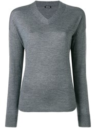 Aspesi V Neck Jumper Grey
