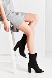 Urban Outfitters Peep Toe Glove Boot Black
