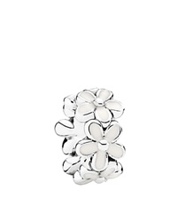 Pandora Design Pandora Spacer Sterling Silver And Enamel Darling Daisies Moments Collection White