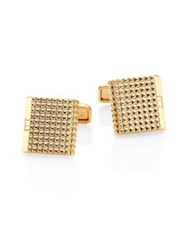 Dunhill Grid 18K Gold Plated Cufflinks No Color