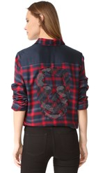 Zadig And Voltaire Tarmi Plaid Shirt Rouge