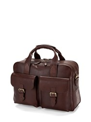 Aspinal Of London Harrison Overnight Business Bag Brown