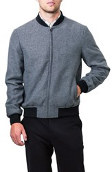 7 Diamonds Men's Aether Bomber Jacket Grey