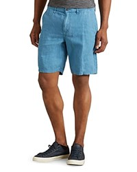 John Varvatos Star Usa Linen Slim Fit Shorts Night Sky