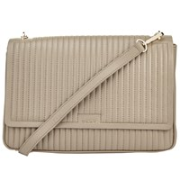 Dkny Gansevoort Quilted Large Flap Shoulder Bag Clay
