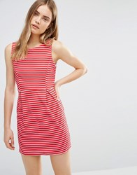 Wal G Dress In Stripe Red