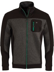 Calvin Klein Macrotex Full Zip Jumper Charcoal