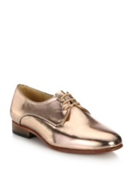 Dieppa Restrepo Cali Metallic Leather Lace Up Oxfords Silver Gold Rose Gold