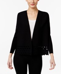 Alfani Prima Cutout Open Front Cardigan Only At Macy's Deep Black