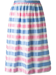 Courreges Vintage Striped Full Skirt Multicolour