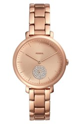Fossil Jacqueline Glitz Bracelet Watch 36Mm Rose Gold