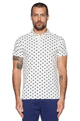 Scotch And Soda Printed Polka Dot Polo White