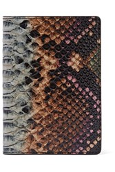 The Case Factory Snake Effect Leather Passport Cover Snake Print