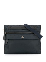 Mismo Flat Messenger Bag Blue
