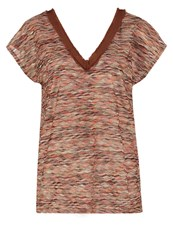 Cream Kos Print Tshirt Porcelain Coral Mottled Brown