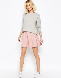 Asos Skater Skirt In Texture Blush Pink